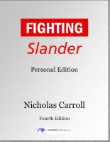 Fighting Slander cover